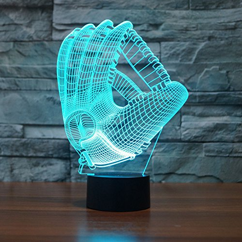 Comics+3D+Night+Lamp+ Products : Glove Shape Acrylic 3D Led Night Light Table Lamp Usb 7-Color Touch Switch