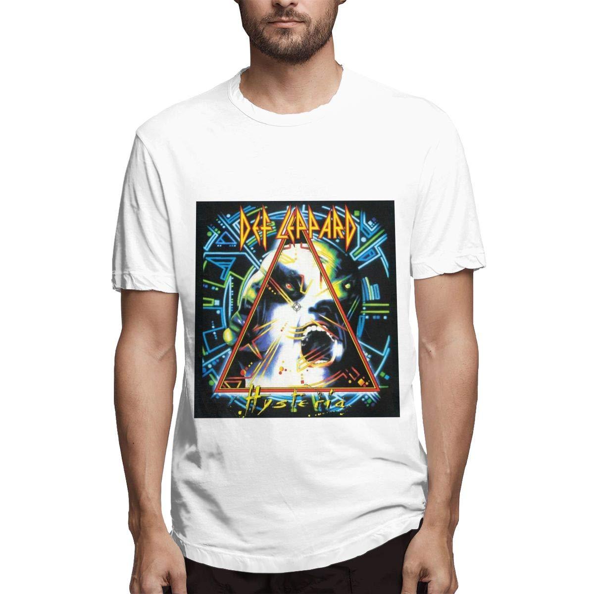 Lihehen S Def Leppard Round Neck Ts Shirts