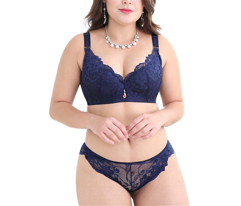 05f47e904d1f6 Caseminsto Push Up Lace Bra Set For Women Plus Size Bra And Panties Set  Sexy Lingerie Set White Black at Amazon Women s Clothing store