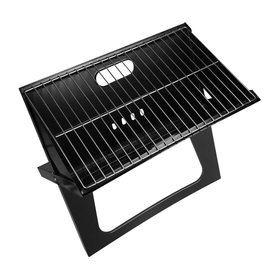 Pro-G Smoker BBQ Grill Portable Outdoor Camping Cooker Bars Compact Charcoal Barbecue 170 Square inches