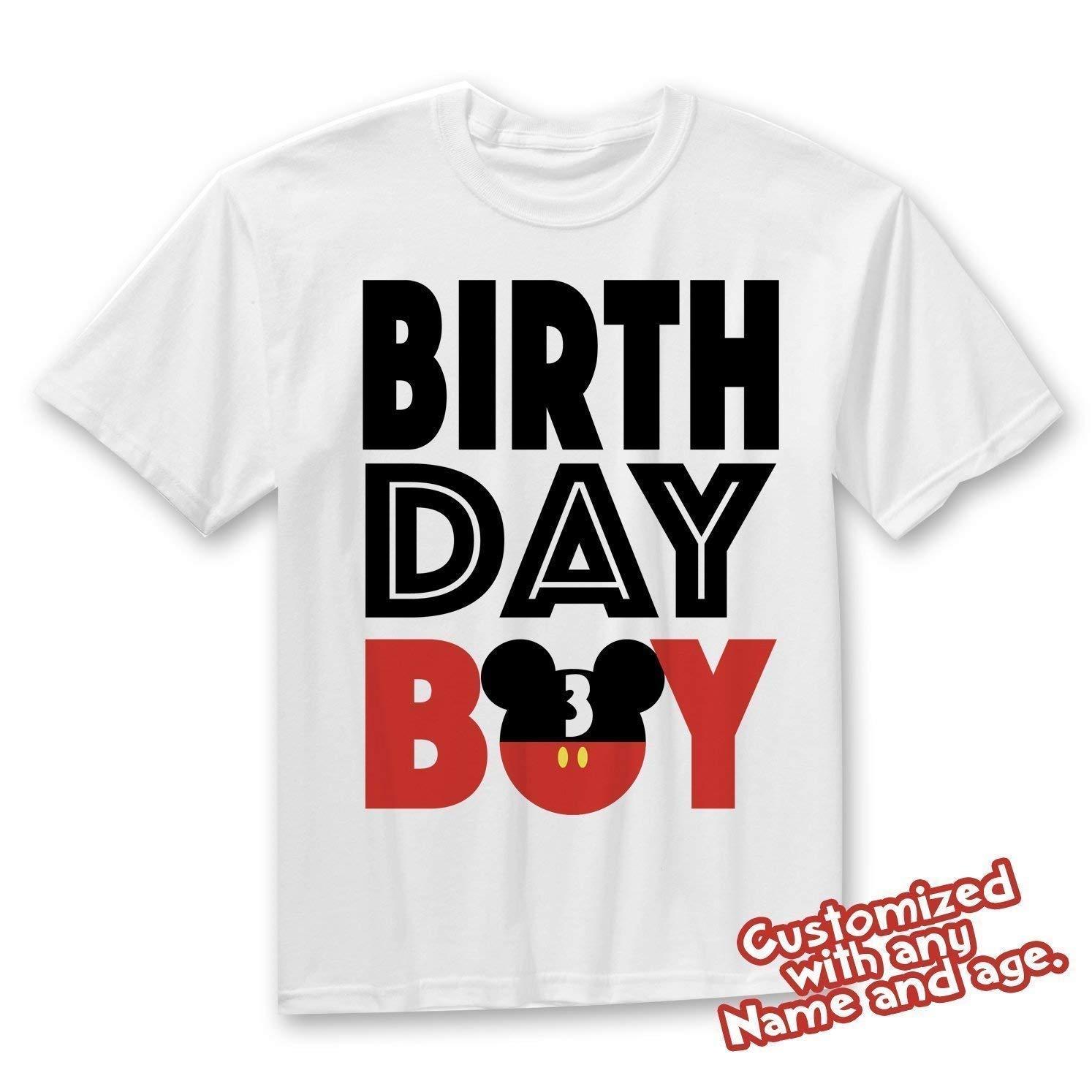 f83247235 Amazon.com  Matching Disney Family Birthday Boy Tshirts - Mickey Minnie  Mouse Birthday Girl - Disney Inspired - Matching Birthday Shirts  Handmade