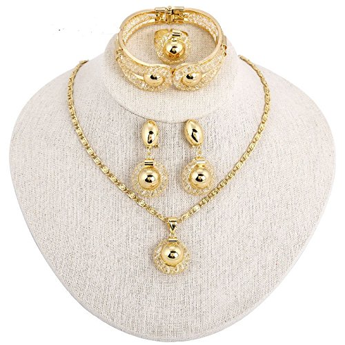 13fc596a157ea Amazon.com: African Costume Jewelry Sets 18k Gold Plated Women ...