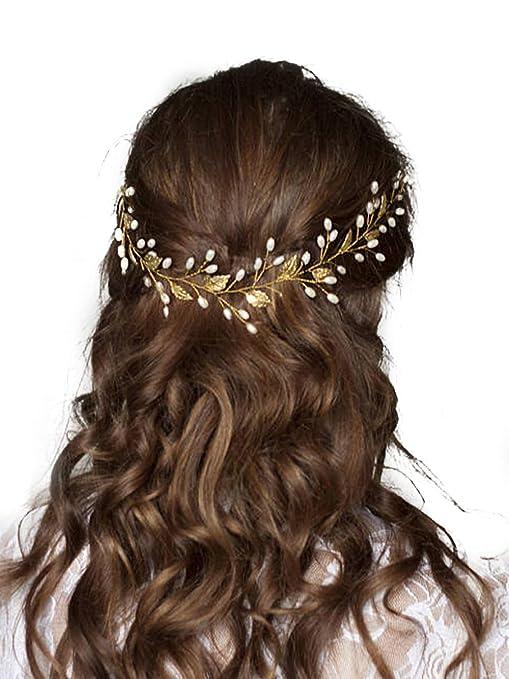 mieux New York prix bas Fxmimior mariée Accessoires Cheveux Cristal Bandeau Rose ...