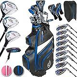 TecTake Golf Set Golfschläger Komplettset Graphit Rechtshand mit 13 Schläger und Tasche - Damen und Herren - (Herren | Nr. 401486)