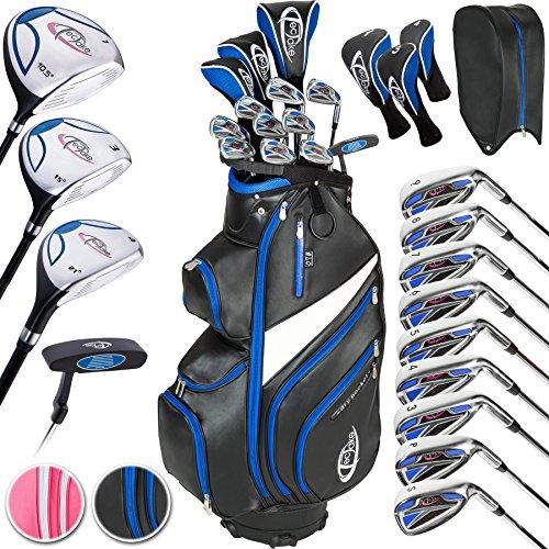 TecTake Golf Set Golfschläger Komplettset Graphit Rechtshand mit 13 Schläger und Tasche - Damen und Herren - (Herren   Nr. 401486)