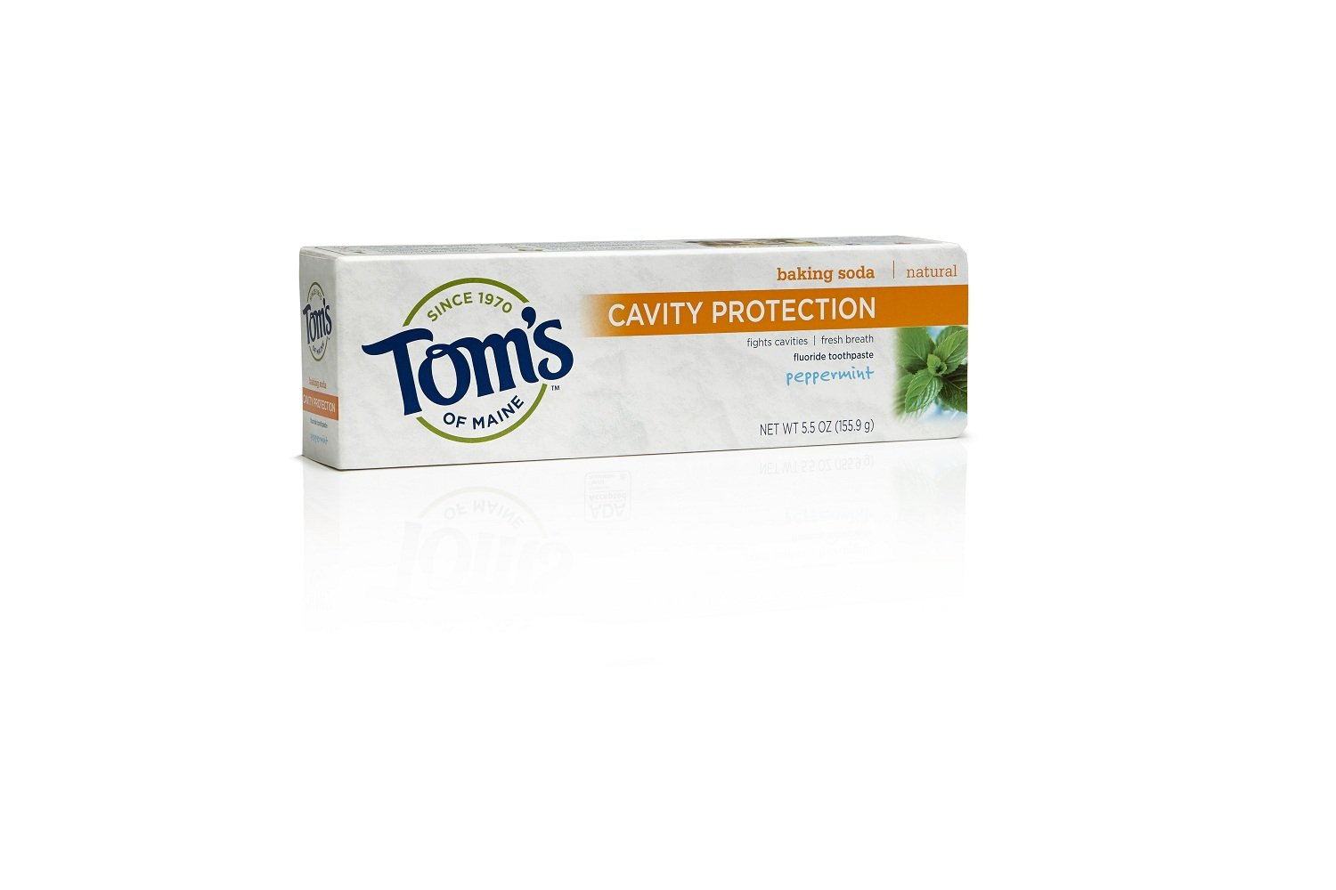 Tom's of Maine 683077 Cavity Protection Natural Toothpaste, Peppermint, 5.5 Ounce, 24 Count