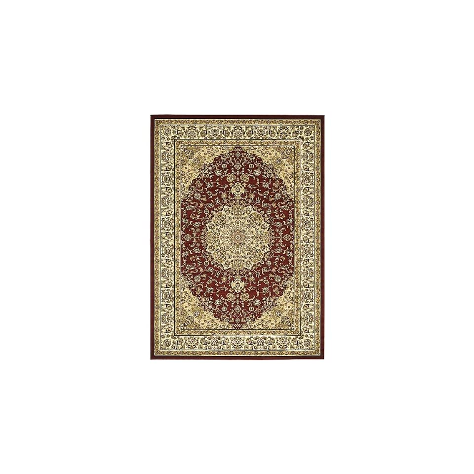 Safavieh Lyndhurst Collection LNH222B Red and Ivory Square Area Rug, 8 feet Square (8 Square)