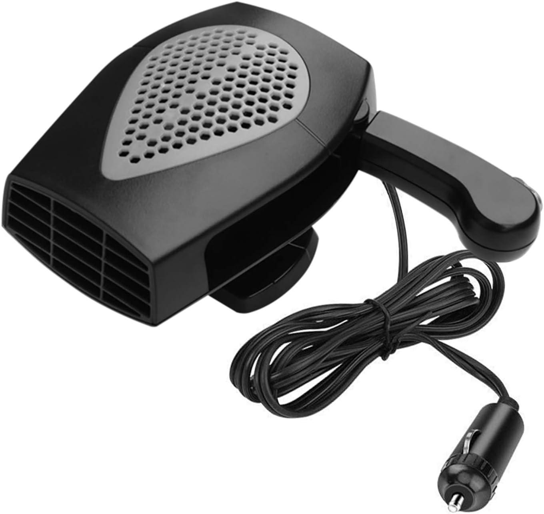 Newest Upgrade 12V//150W Car Heater Portable Fan Heater /& Cooler Defrost Defogger Space Automobile 3-Outlet Plug Adjustable Thermostat Red