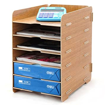 desk office file document paper. Menu Life Desk Wooden File Cabinet Storage Boxes A4 Size Paper Organiser Document Magazine Folder Office O