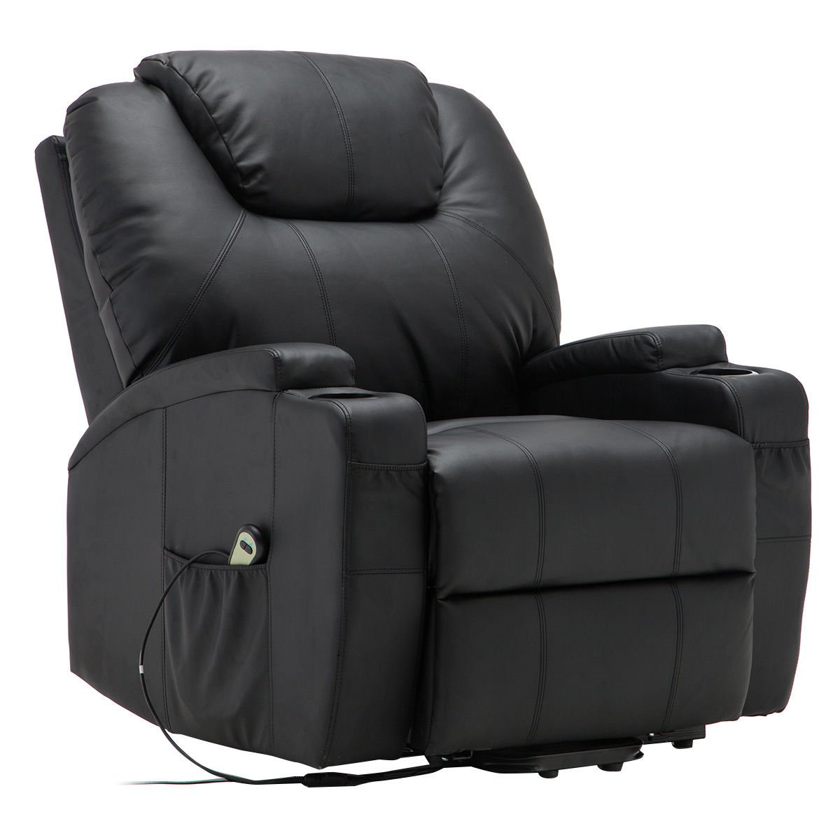 COLIBROX–Electric Lift Power Recliner Chair Heated Massage Sofa Lounge w Remote Control. power recliner hand control. lift chair hand control. comfortlift chair. electric recliner remote control.