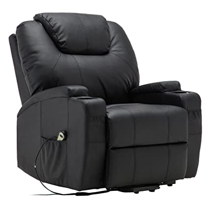 amazon com electric lift power recliner chair heated massage sofa rh amazon com power reclining massage sofa recliner massage sofa