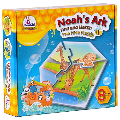 Bookid Toys Find and Match Toddlers Puzzle Games - Noah's Arc (Animals). for 3+ Years Old