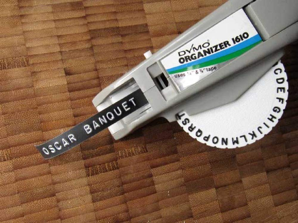 6-Pack Aken Embossing Tape Self-Adhesive 3//8 inch x 9.8 feet Each Roll Replacement DYMO 3D Plastic Vinyl Embossing Label Cartridges for DYMO Organizer Xpress Labeller White on Black Non-OEM ,