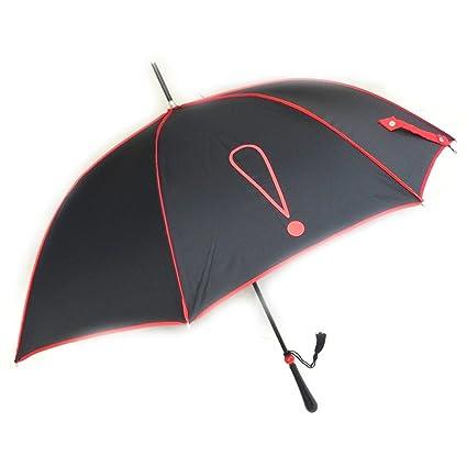 Paraguas de caña Joy Heartrojo negro (signo de exclamación).