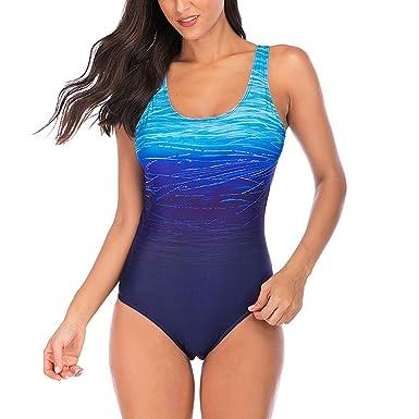 super popular 01c55 ba8ff Overdose Farbverlauf Farbe Damen Übergröße Bikinis Tankini Einteiliger  Badeanzug Beachwear gepolsterte Bademode Frauen Plus Size Beachwear  Badeanzüge