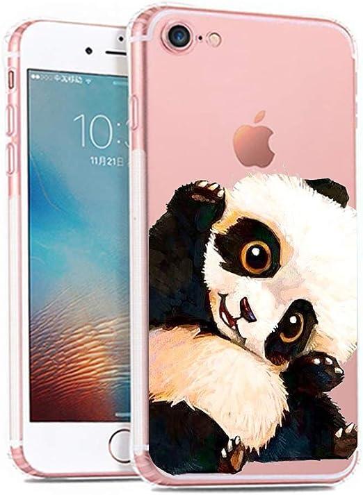 iPhone 6 6S Case,Cute Panda Mermaid Pattern On Soft TPU Silicone ...