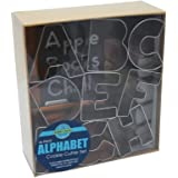 "R&M International 1954 Alphabet 3"" Cookie Cutters, 26-Piece Set in Gift Box"