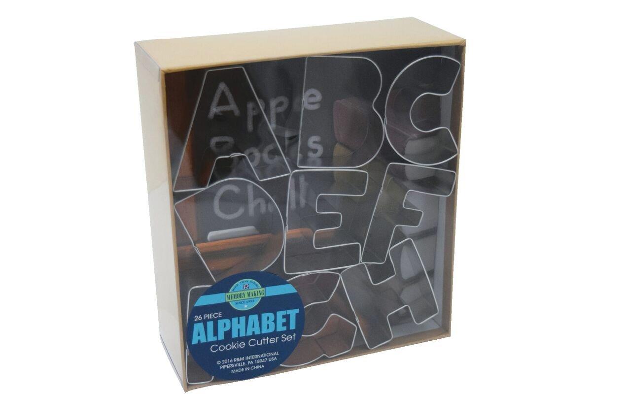Alphabet Cookie Cutters Tinplate Set of 26 R&M 1954