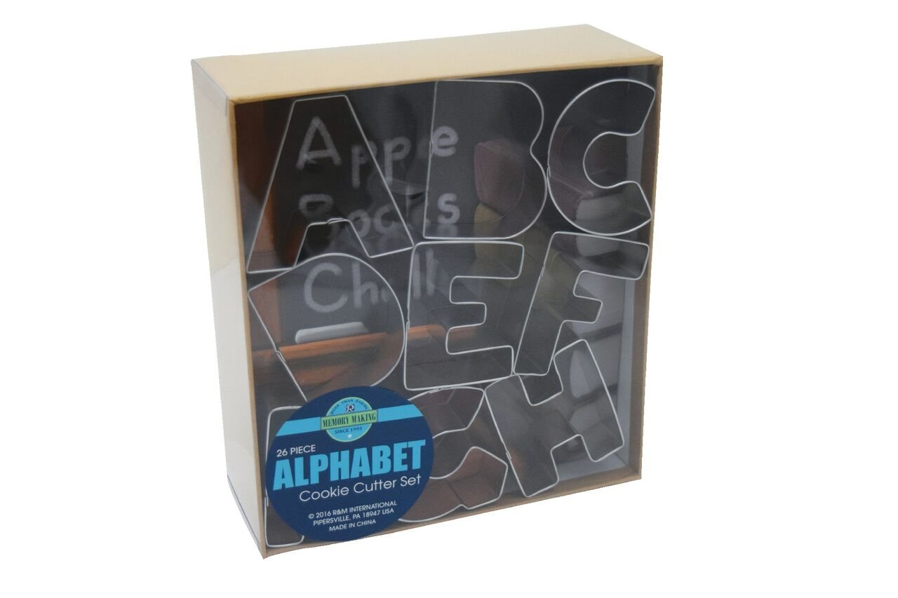 R&M International 1954 Alphabet 3'' Cookie Cutters, 26-Piece Set in Gift Box