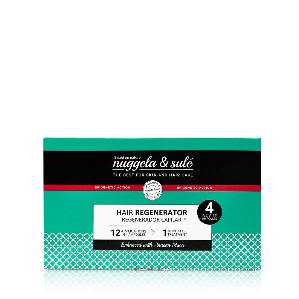 Nuggela & Sulé Tratamiento Regenerador Capilar, 4udsx10ml.- Alto Rendimiento. Ingredientes activos que estimulan el crecimiento del cabello, aumentan su grosor y densidad. Finalista MEJOR PRODUCTO
