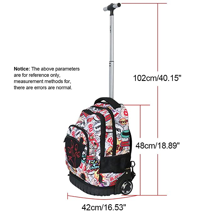 Amazon.com | Kids Rolling Backpacks Trolley Schoolbag 2 Wheeled Waterproof Audult luggage | Kids Backpacks