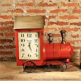 Vogvigo Retro Steam Train Model Home Living Room Soft Decoration Desktop Decoration Block Clocks Jewelry Window Crafts