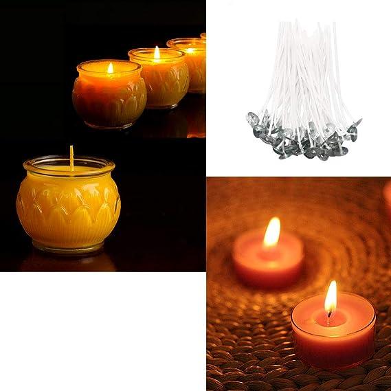 10cm,15cm,20cm Docht Halter Sustainer YOUYIKE 150 St/ück Kerzendocht Nat/ürliche Flachdocht Gewachste Runddocht Docht Kerzen 2 STK + 20 STK Kerze Dochte Aufkleber