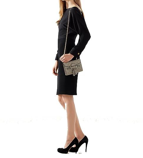 3deb03986b1a Gucci Emily Mini Guccissima Grey Leather Chain Shoulder Handbag 369622 with  Horsebit Detail: Amazon.ca: Shoes & Handbags