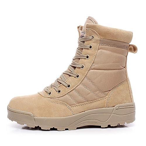 Hombres Desierto Botas Militares Hombre Invierno TáCtico Botines De Nieve Combate del EjéRcito Cordones Zapatos De Seguridad Al Aire Libre Botas De Trabajo ...