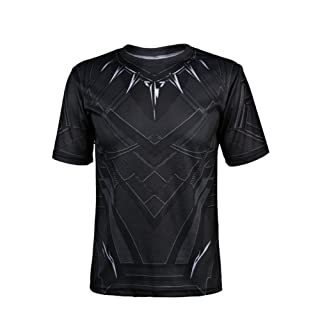 IFSONG Short Sleeve Panther Shirt Black - Cosplay Shirt for Theme Parties and Dating