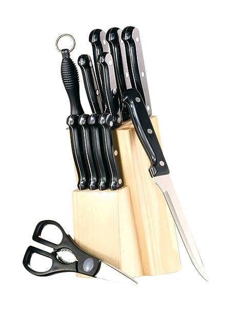 Esmeyer Orion - Juego de cuchillos con soporte (13 piezas)
