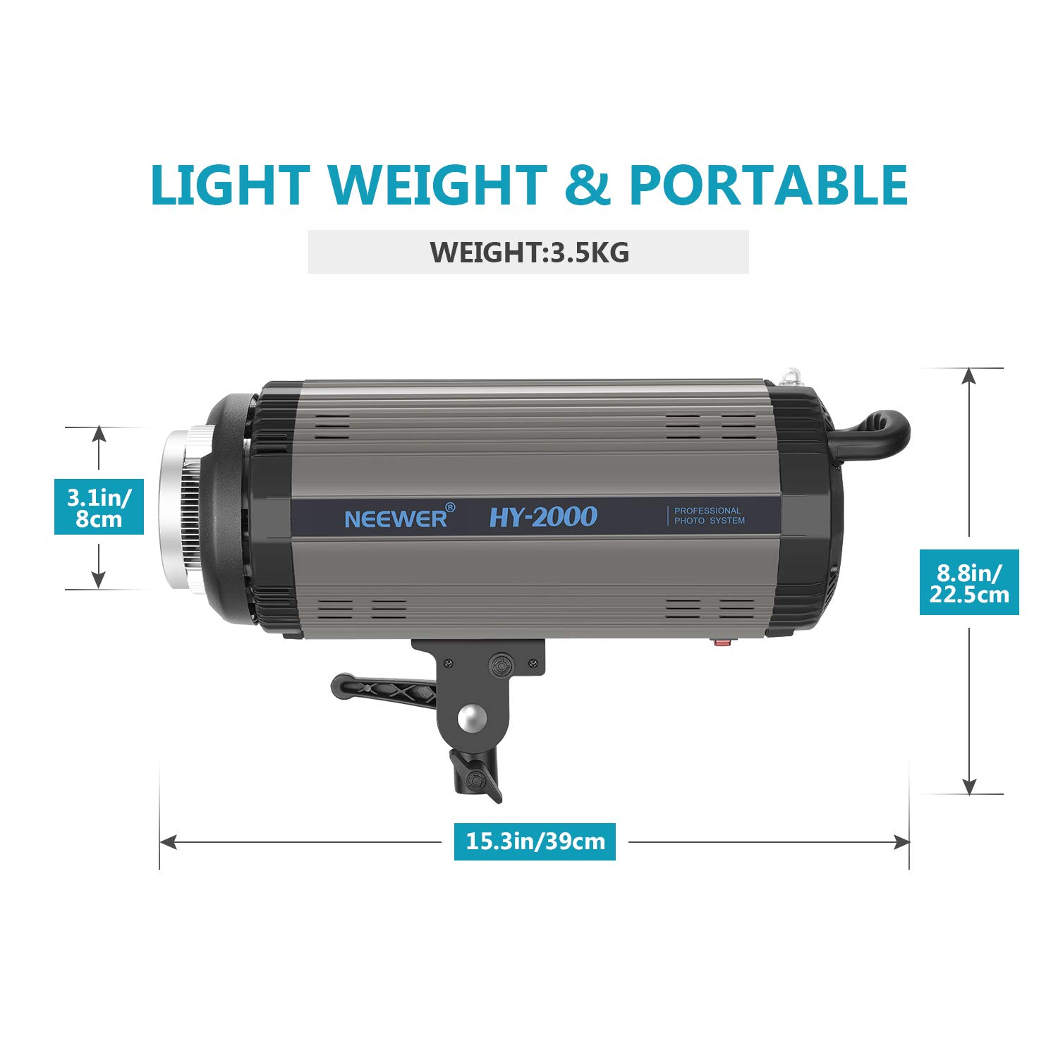 Neewer SL-60W LED Video Light White 5600K Version 60W CRI 95+ Continuous Lighting Bowens Mount for Video Recording Outdoor Shooting Children Photography TLCI 90+ with Remote Control and Reflector
