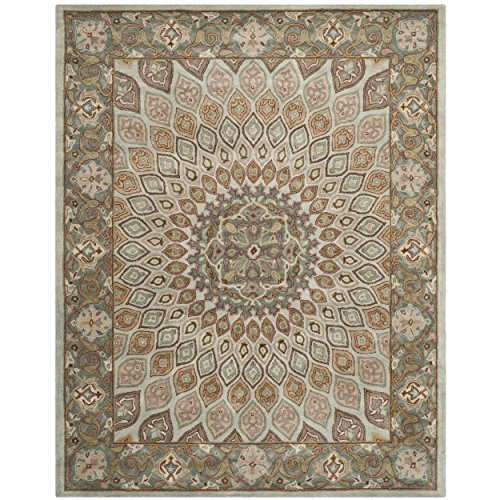 - Safavieh Heritage Collection HG914B Handcrafted Traditional Oriental Blue and Grey Wool Area Rug (7'6