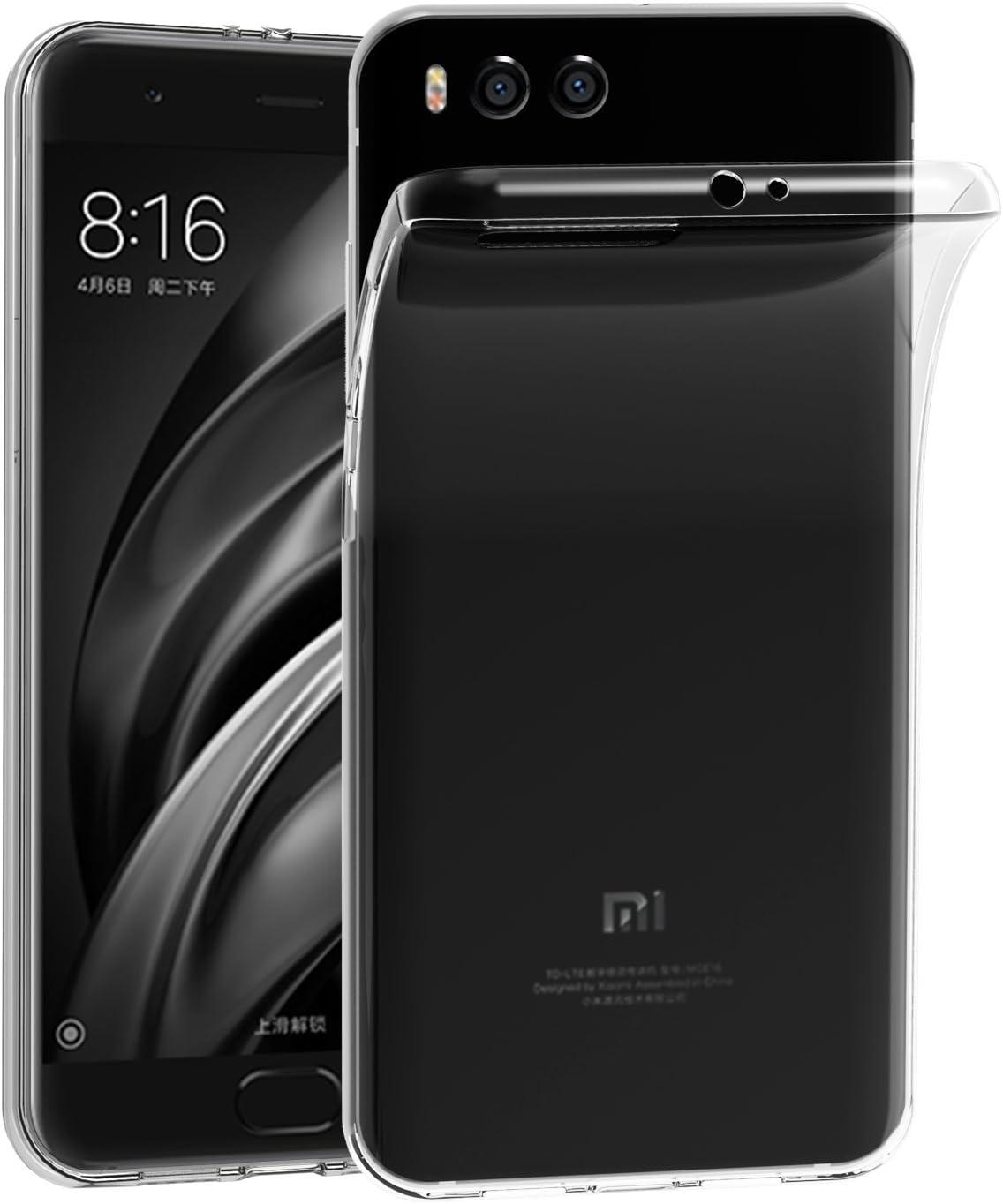 Skrzynki pokrywa Xiaomi Mi 6, 6 iVoler Xiaomi Mi Silicone Case TPU miękkie Transparent Kryształ Cienka Anti Przesuń Case Powrót pokrycia ochroną Anti-Shock dla Xiaomi Mi 6 (Crystal Clear) - 18 miesięczną gwarancją