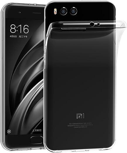 Case Capa Xiaomi Mi 6, 6 iVoler Xiaomi Mi Silicone Case TPU macio transparente cristal Fina Anti Deslize de volta caso de cobertura de protecção anti-choque para Xiaomi Mi 6 (Crystal Clear) - 18 Meses Garantia