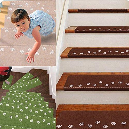 Soft Tread Anti Slip Coating : Off ehonestbuy paw pattern luminous stair tread mats