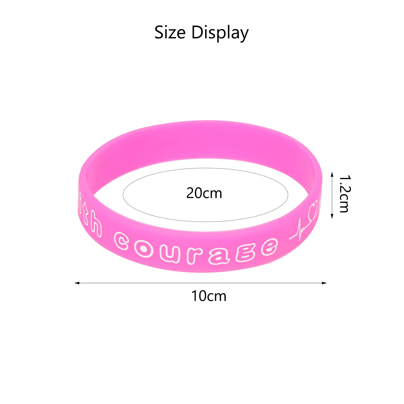 Matogle 36pcs Rubber Wristbands Rubber Band Bracelets for Valentine\'s Day Party Supplies Gift School Rewards Couples Adult Teenager Kids Pink Red White