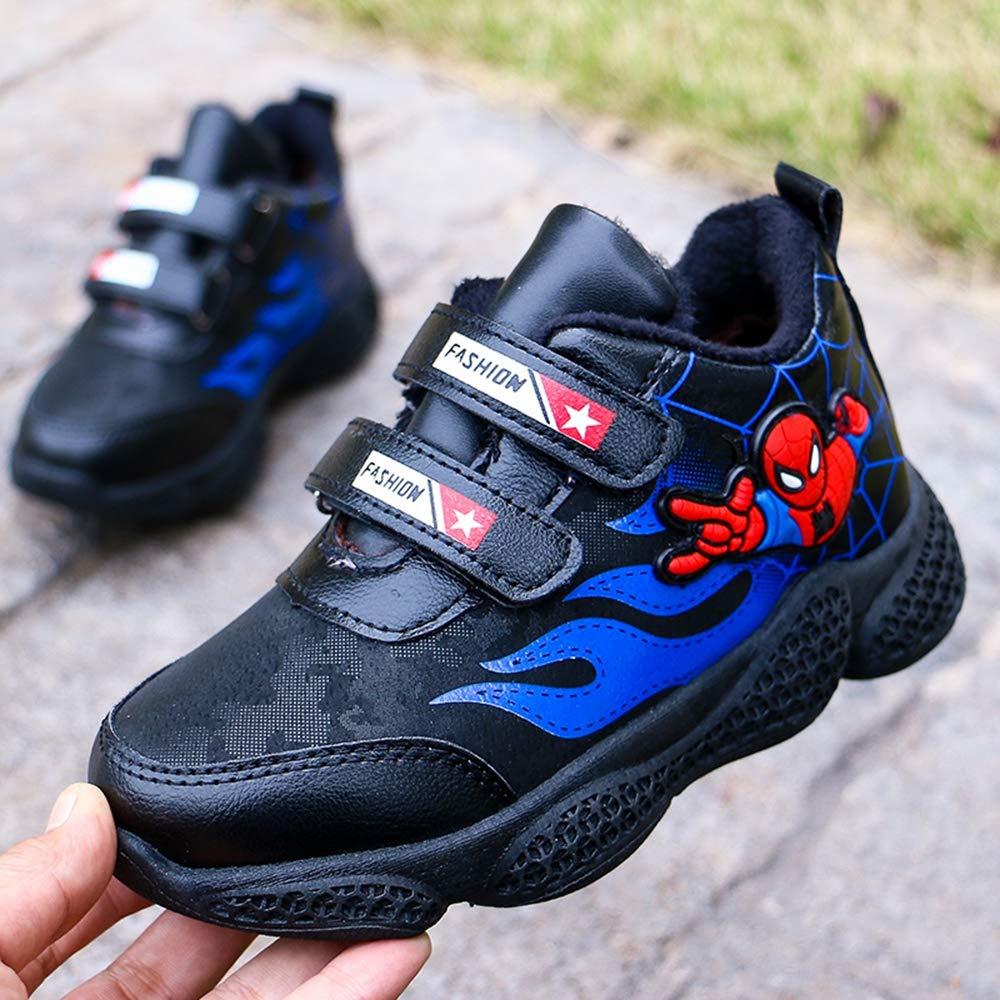 ANKIDS Kids Spiderman Sneakers Boys Girls Black
