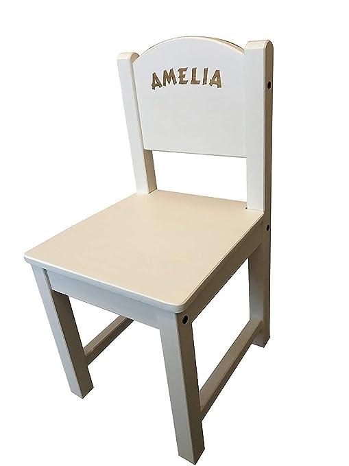 Superb Makethismine Personalised Childrens Kids Ikea White Wooden Squirreltailoven Fun Painted Chair Ideas Images Squirreltailovenorg