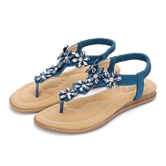 Darringls_Sandalias de Primavera Verano Mujer,Zapatos Casual de Mujer Sandalias de Verano para Fiesta y Boda Chanclas Sandalias Mocasines Sandalias de Mujer ...