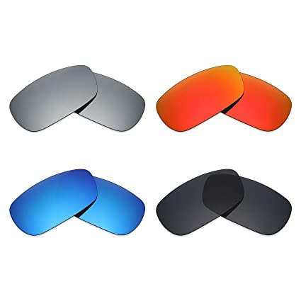 981838bff71 Image Unavailable. Image not available for. Color  Mryok 4 Pair Polarized  Replacement Lenses for Oakley Crosshair 2.0 Sunglass - Stealth Black Fire