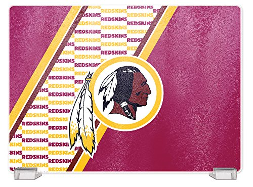 NFL Washington Redskins Tempered Glass Cutting Board with Display Stand