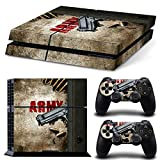 Cheap ZoomHit Ps4 Playstation 4 Console Skin Decal Sticker Army War Gun + 2 Controller Skins Set
