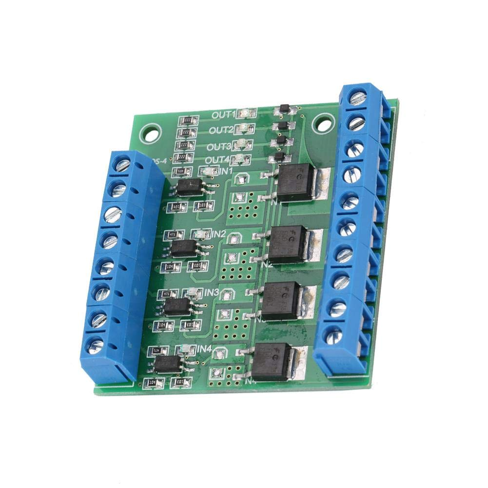 MOS FET PWM 3-20V to 3.7-27VDC 10A 4-Channel Driver Module PLC Amplifier Circuit Board
