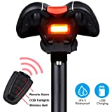 G Keni Bike Tail Light Rechargeable, Anti-Theft Alarm, Warning Electric Horn, Bike Finder with Remote, Electric Mountain Bike