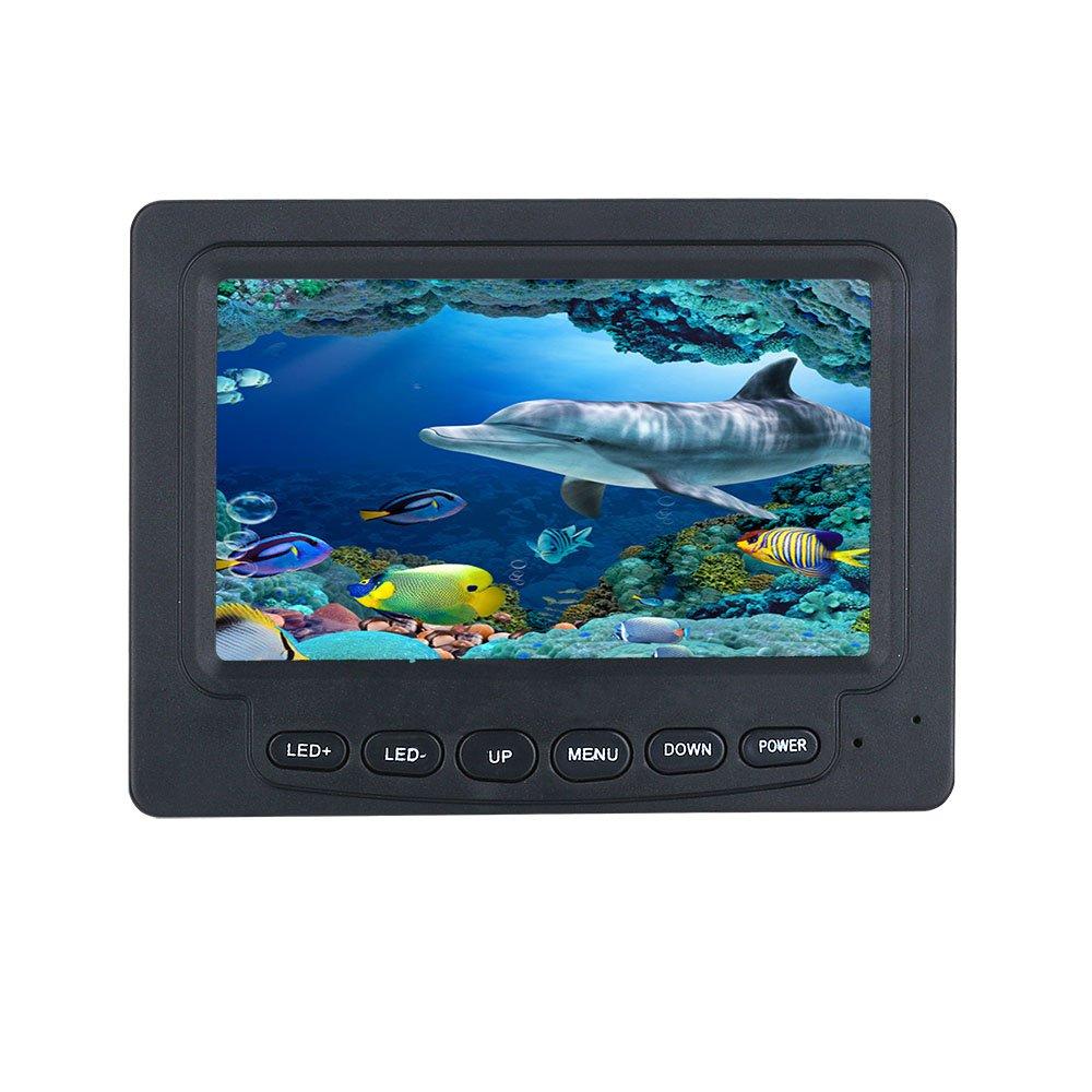 ENNIO 15M 1000TVL Fish Finder Underwater Fishing Camera 4.3 LCD Monitor 6PCS 1W IR LED Night Vision Camera For Fishing