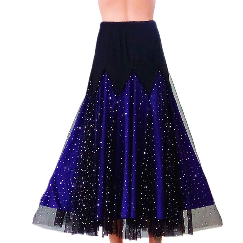 Haobing Falda de Danza para Mujer Moderno Elegante Danza del Vientre Traje de Actuaci/ón Formaci/ón