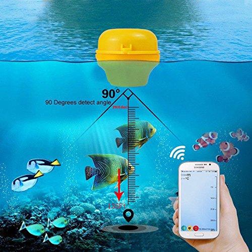 FidgetFidget Fish Finder Wireless Sonar 45M/135ft Depth Sea Lake Fish Detect For PAD Android