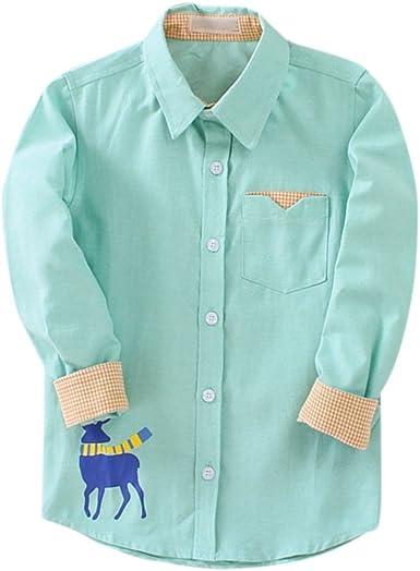 Baywell Niño Pequeño Camisetas Camisas de Manga Larga Cuello ...