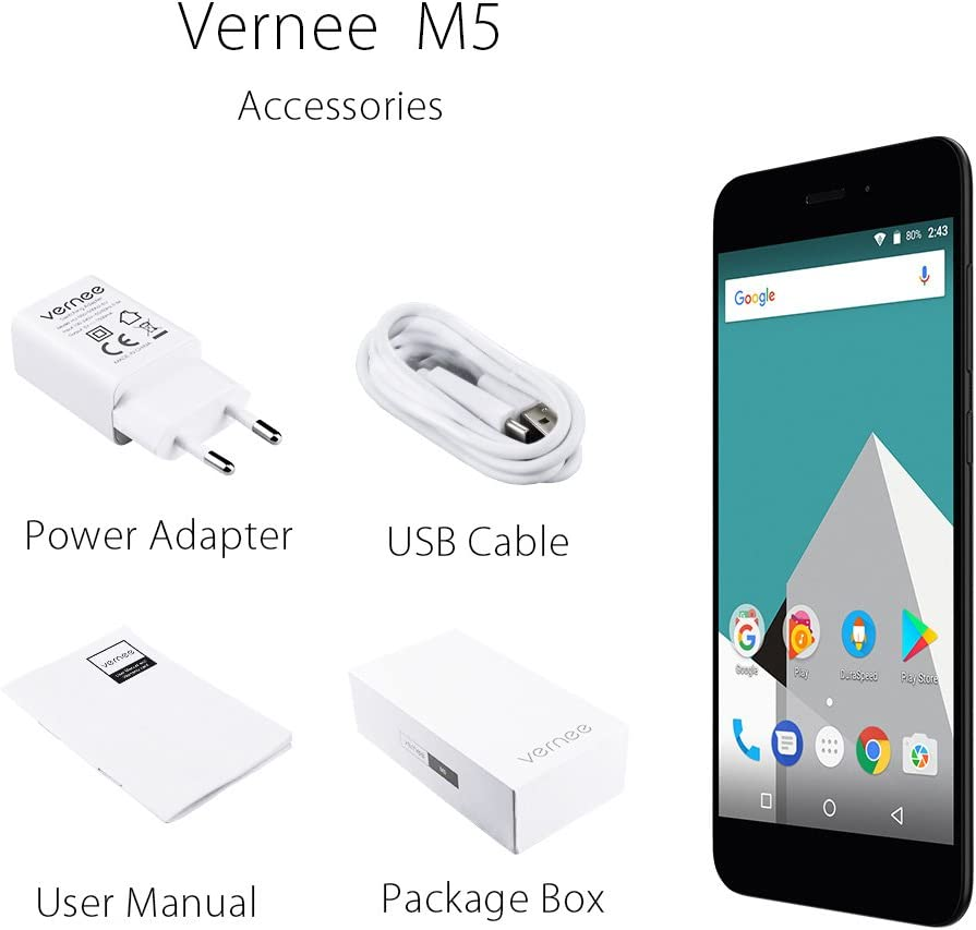 Smartphone Vernee M5 4 G FDD-LTE Smartphone 5.2 pulgadas, HD ...